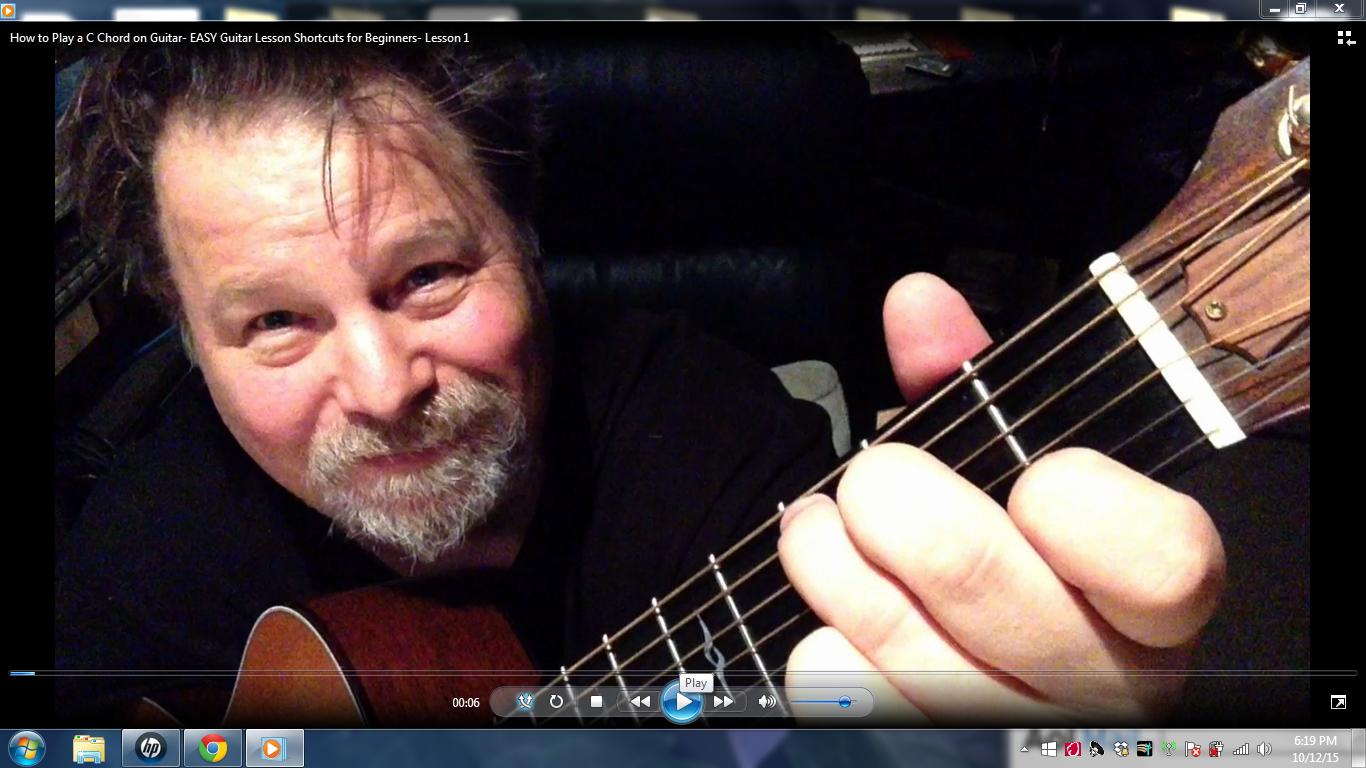 Bob plays a C Chord