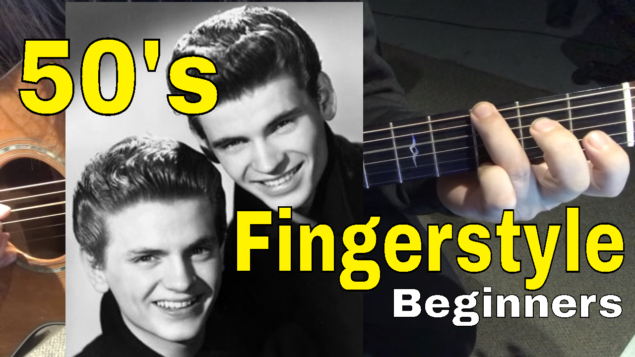 Learn The 1 50s Chord Progression Fingerstyle Lesson 1