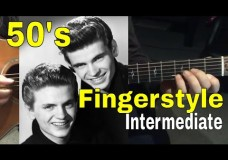 Learn the #1 Chord Progression of the 50′s – Fingerstyle- Lesson 2